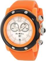 Glam Rock Women's GD1111 Miami Beach Chronograph Dial Orange Silicone Watch