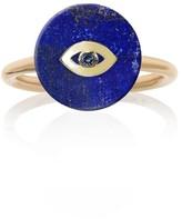 Noush 14ct Yellow Gold Evil Eye Ring