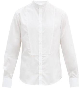 Bourrienne Paris X - Romancier Stand-collar Cotton-poplin Bib Shirt - White