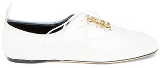 Loewe Anagram-plaque Leather Oxford Shoes - White
