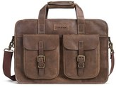 Trask Men's 'Jackson' Leather Briefcase - Brown