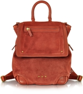 Jerome Dreyfuss Bernard Rust Split Suede Leather Backpack