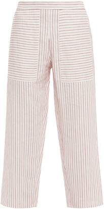 Vanessa Bruno Galien Cropped Jacquard Wide-leg Pants