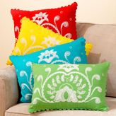 Rickrack Embroidered Floral Toss Pillows