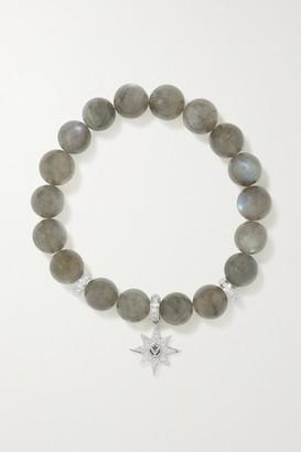 Loree Rodkin Starburst 14-karat White Gold, Labradorite And Diamond Bracelet