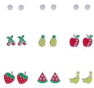 Capelli New York Set of 9 Stud Earrings