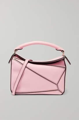 Loewe Puzzle Mini Textured-leather Shoulder Bag - Pink