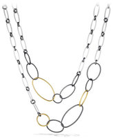 David Yurman Mobile Link Necklace with Gold
