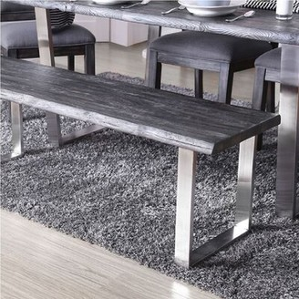 Gracie Oaks Defiance Wood Bench Finish: Gray