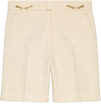 Gucci Horsebit tweed shorts