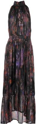 IRO Abstract-Print Halterneck Dress