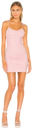 superdown Fawn Ruched Mini Dress