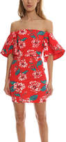 Nicholas Floral Tuck Sleeve Dress