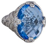 Judith Ripka Blue Quartz & Diamond Cocktail Ring