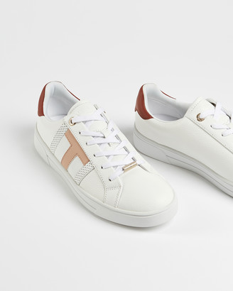 Ted Baker OTTOLI Perforated T-branded leather trainers