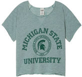 PINK Michigan State University Cropped Crew
