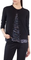 Akris Punto Women's Twilight City Print Wool Cardigan