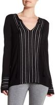 Cullen Fairisle Stripe Silk Blend Pullover