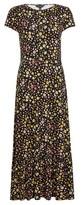 Dorothy Perkins Womens Black Floral Print Jersey Midi Dress, Black