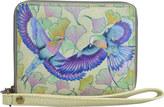 Anuschka Women's Hand Painted RFID Zip Organizer Clutch Wallet