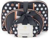 Adrienne Vittadini Studio 3-pc. Polka Dot Cosmetic Bag Gift Set