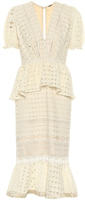 Johanna Ortiz Lovers Bridgelush cotton midi dress