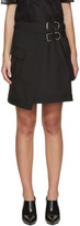 Carven Black Asymmetric Pocket Miniskirt