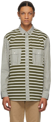J.W.Anderson Green Patchwork Stripe Shirt