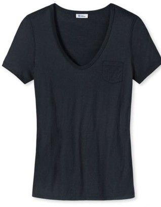 Schiesser Luise Womens T Shirt - Small - Black