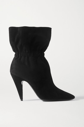 Saint Laurent Etienne Suede Ankle Boots - Black