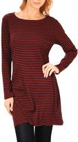 Point Zero Long Sleeved Striped Long Dress