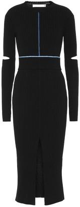 Victoria Beckham Ribbed knit cotton midi dress