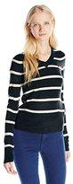 U.S. Polo Assn. Juniors' Striped V-Neck Sweater