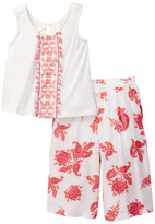 Jessica Simpson Embroidered Tank & Paisley Pant 2-Piece Set (Baby Girls)