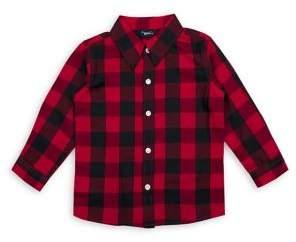 Nannette Baby Boy's Little Rebel Plaid Button-Down Shirt