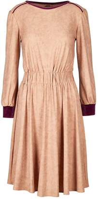 Michela Suede Hand-Feel A-Line Dress