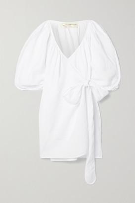 Mara Hoffman Coletta Linen Mini Wrap Dress - White