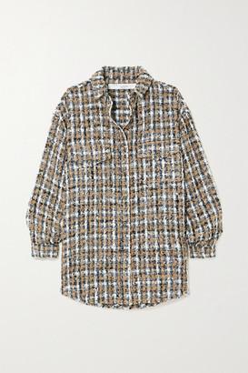 IRO Bleoma Checked Boucle-tweed Jacket - Gray