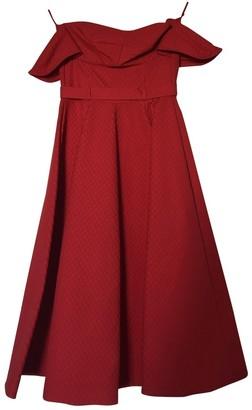Vika Gazinskaya Red Cotton Dresses