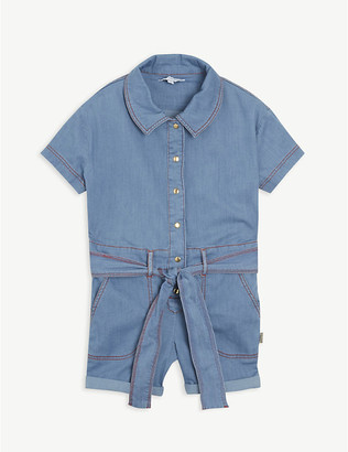 Little Marc Denim cotton playsuit 4-14 years