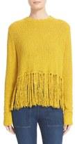 A.L.C. Andreas Fringe Silk Blend Sweater