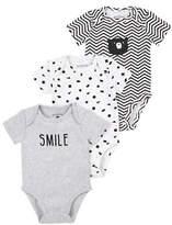 Petit Lem Essentials Three-Piece Chevron and Geometric-Print Bodysuit Set