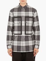 Helmut Lang Grey Plaid Cotton Shirt