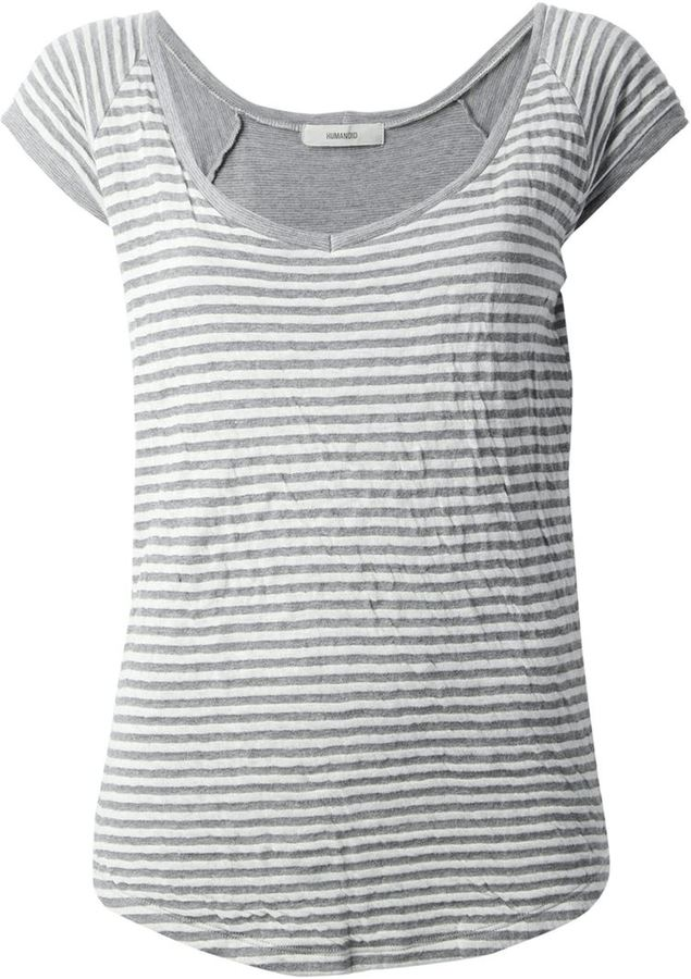 Humanoid striped t-shirt