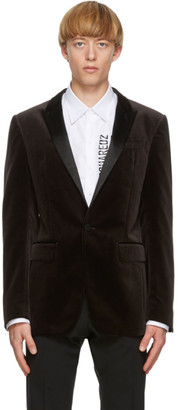 DSQUARED2 Brown Velvet Berlin Blazer