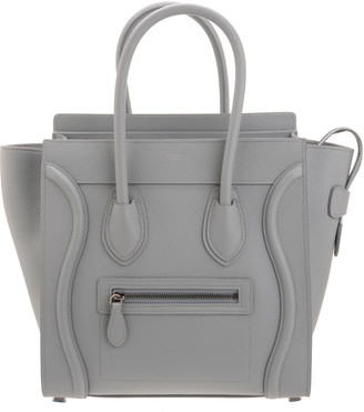 Celine Micro Luggage Bag In Drummed Calfskin Colour Mineral
