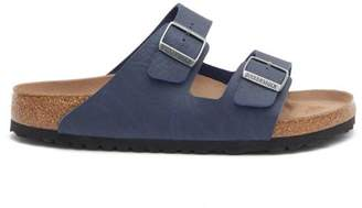 Birkenstock Arizona Two-strap Faux Leather Sandals - Mens - Navy