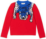 Gucci Children's merino sweater with tiger