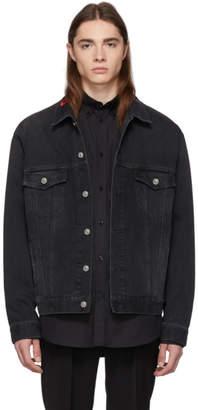 Balenciaga Black Denim Logo Jacket