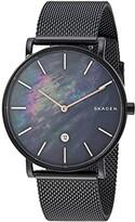 Skagen Hagen Slim Two-Hand Date Watch (SKW6472 Black Stainless Steel Mesh) Watches